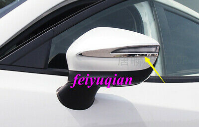 ABS Chrome Side Rearview Mirror Strip Decorative Trim For Honda Accord 2018