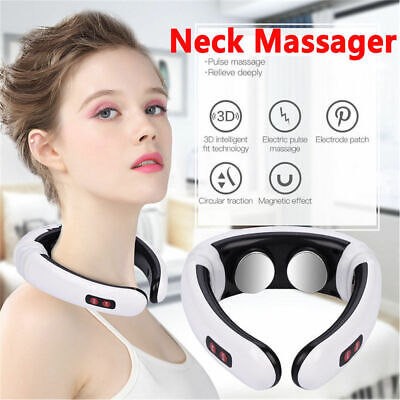 Electric Pulse Neck Massager Magnetic Therapy Vertebra Treatment PAIN RELIEF