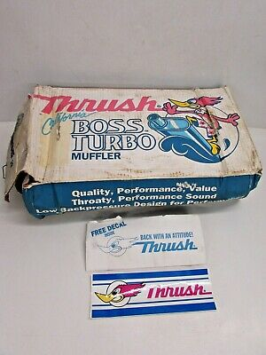 Nos! Thrush California Boss #17713 Turbo Muffler, With Decal Sticker