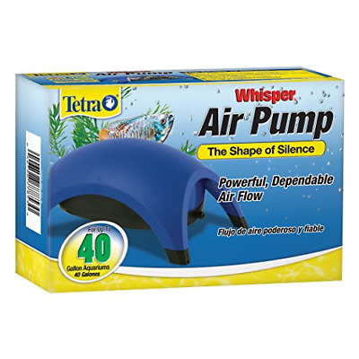 WHISPER AIR PUMP Aquarium Water Fish Tank Quiet Powerful 20-40-Gallon Easy use