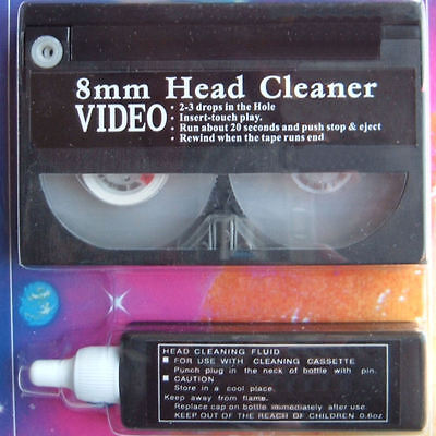 Hi8 Camcorder Video Wet Dry Head Cleaner Pack.With 8mm Cleaning Tape & Fluid