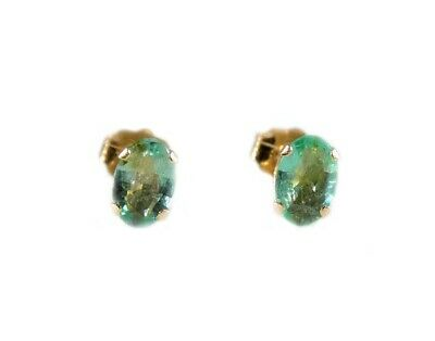 Gold Emerald Earrings 1ct Antique 19thC Ancient Christian Sumer Immortality 14kt