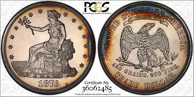 1876 T$1 Trade Dollar Certified PCGS PR61 Gold Label Holder ONLY 1150 MINTED