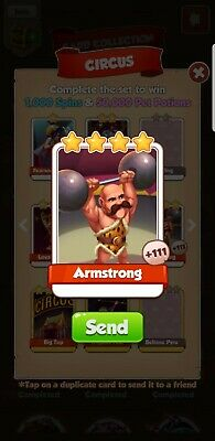 Coin Master Armstrong X10 Cards