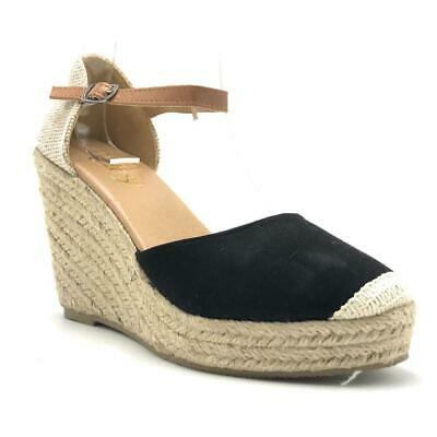 ff5528b6a Refresh Sandra-01 High Heel Platform Espadrille Wedge Adjustable Buckle  Ankle St