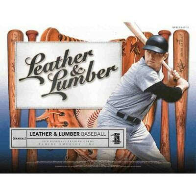 2019 Panini Leather and Lumber Retail Baseball (Rookie Autos Too) Pick From List