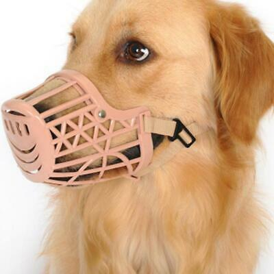 Adjusting Basket Muzzle Pet Dog New 1Pcs  Plastic Strong XS Dogs ( 5-11 lbs)Pink