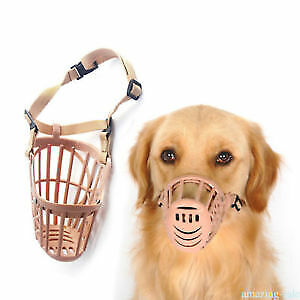 Adjusting Basket Muzzle Pet Dog New 1Pc  Plastic Strong Small Dogs  **Pink**