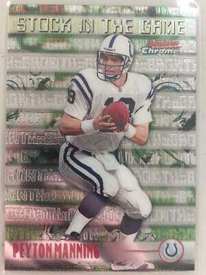 Verzamelkaarten: sport 1999 Bowman Chrome Stock in the Game #S12 Peyton Manning Indianapolis Colts Card Verzamelkaarten, ruilkaarten