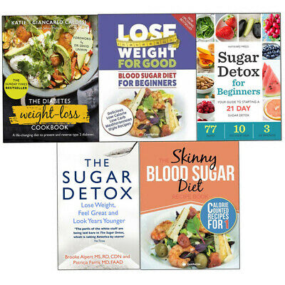 Diabetes Weight-Loss Cookbook,Blood Sugar Diet For Beginners Set of 5 Books Set