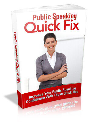 Public Speaking Quick Fix Ebook PDF & 5 Free Ebooks Resell Rights Free Shipping
