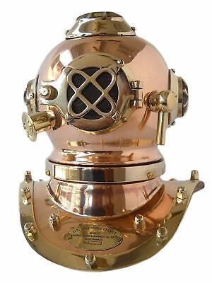 Mini DIVING DIVERS Helmet Antique Brass Vintage NJ U.S Navy Scuba Model New Gift