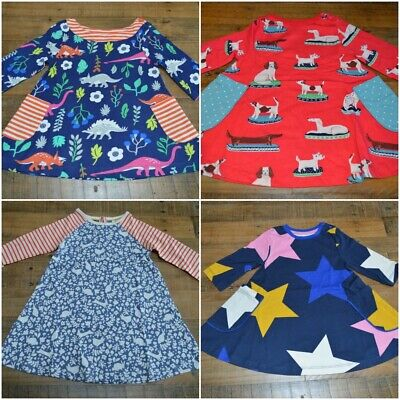 New Mini Boden Kids Girls Tunic Dress Top Cotton Jersey Star Floral Striped 2-12