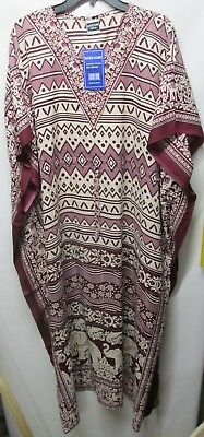 093ef295caa7 Pacific glory women Plus Free size 4X Purple BLING house dress Kimono NWT  Lot#47