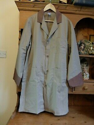"Vintage Mens Overall Polycotton Pen All Hours Warehouse Coat Brown 40"" Goodwood"