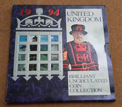 UK 1994 Royal Mint Brilliantly Uncirculated Coin Collection.
