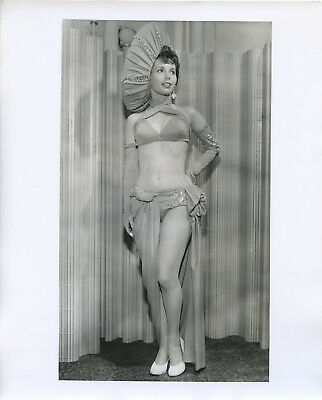 Unidentified Leggy Showgirl 8x10 orginal vintage photo W3584