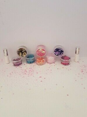 Festival Glitter Set Face And Body Chunky/Fine Mixed Eyes Lips Hairnail Free P+P