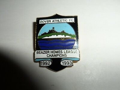 Rare Old Football Badge Dover Athletic F.c. Champions 1992/3 Non League  Brooch