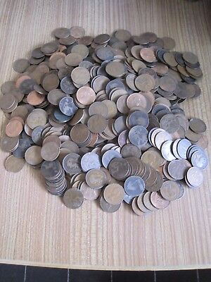 100 x OLD PRE-DECIMAL ONE PENNY 1d COINS VICTORIA to ELIZABETH BULK COLLECTION