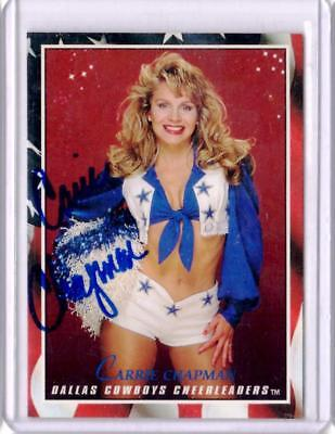 1993 Score Dallas Cowboys Cheerleaders Autograph Card Carrie Chapman