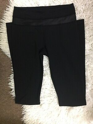 5b6a695ea Lululemon Women s Black Full Length Fitted Stretch Activewear Leggings Sz 4