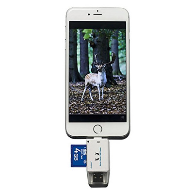 Trail Camera SD Card Reader Hunting Viewer Micro USB Connector iPhone Android