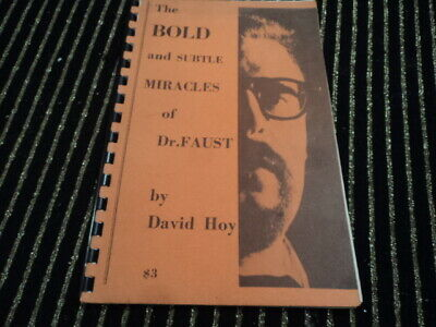 Bold & Subtle Miracles of Dr. Faust David Hoy LL Ireland 1st Edition ca 1963