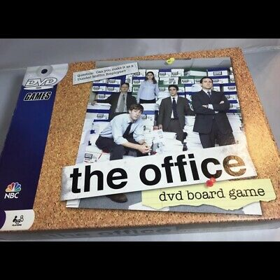 The Office DVD Board Game (MISSING DVD) Trivia Dunder Mifflin Pressman 2008 NBC