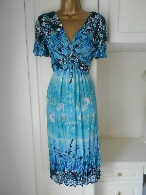 Smart Lined Crinkly Chiffon Dress By Per Una In Vg Con Size Uk 14  Bust 38""