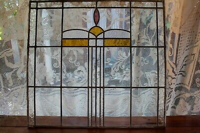 Antique Leadlight Window Panel - Stained Glass Panel - Pick up Central Coast NSW