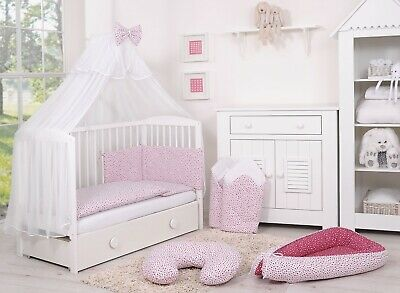 BABY BEDDING SET FOR  COT COTBED 14 Pieces PILLOW DUVET COVER BUMPER CANOPY