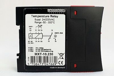 Brodersen Temperature Thermostat Relay MXT-10.230 PT100 Analogue Outputs