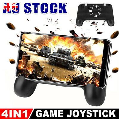 Mobile Phone Gaming Cooling Gamepad & Triggers L1R1 Shooting Aim Button For PUBG