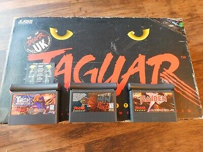 ATARI JAGUAR CONSOLE BOXED WITH 3 GAMES inc RAIDEN AND CONTROLLER