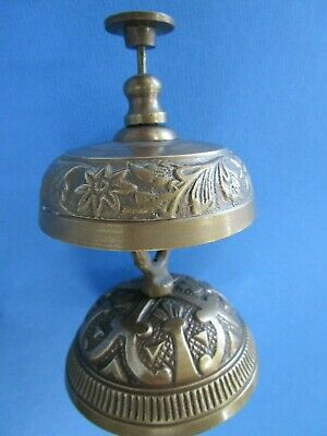 Brass Style Antique Victorian Solid Service Desk Office Bell Hotel Counter Bell