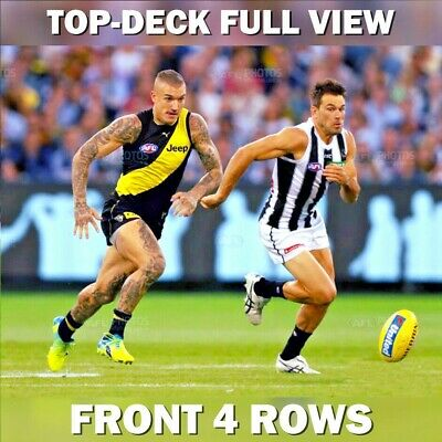 COLLINGWOOD v RICHMOND | AFL TICKETS | TOP-DECK | CENTRE WING | FRONT 4 ROWS