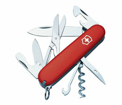Victorinox Swiss Army  Climber  Red  Stainless Steel  3.5 in. Pocket Knife