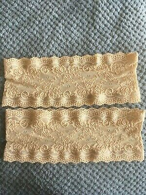 Genuine Bandelettes Anti Chafing Thigh Bands In Beige Lace Great Condition