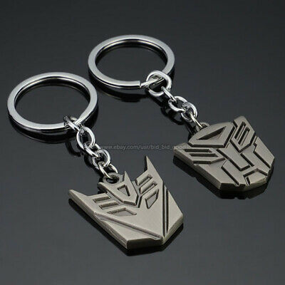 Transformers Logo Keychains Autobot Decepticons TF Sign Alloy Metal Key Ring NEW