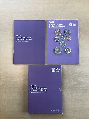 The Royal Mint 2017 UK Definitive Uncirculated Coin Set with The New £1 Coin Set