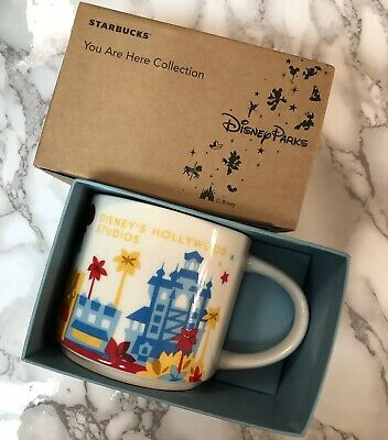 Disney Parks Starbucks You Are Here Coll.Hollywood Studios First Edition Retired