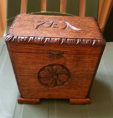 Vintage Wooden Tea Caddy With Music Box
