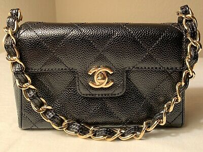 992cdd51d439f Extremely Rare Chanel Classic Mini Flap Quilted Handbag Made In Itlay