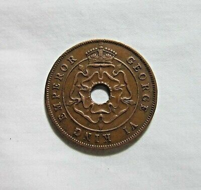 Southern Rhodesia. 1 Penny, 1942. King George Vi.