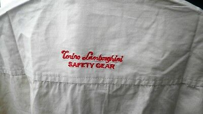 Camicia Auto Tonino Lamborghini Safety Gear L Cotone Car Shirt Original Rare