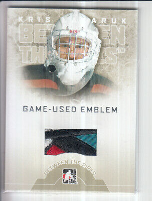08/09 Itg Between The Pipes Kris Lazaruk Game Jersey Emblem 4Cl