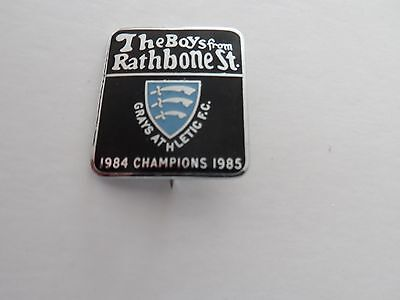 Rare Old Football Grays Athletic  F.c Champions Essex  Non League Chrome Brooch