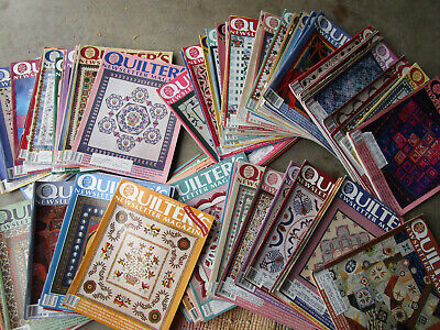 72 Vtg QUILTERS Magazines HUGE LOT 1989-96 Quilt Patterns Quilting
