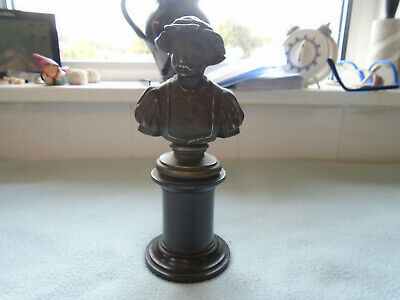 Antique Spelter Figure On Ebony Plinth Of Elegant Gentleman